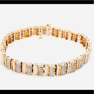 5CTWS GENUINE DIAMOND 10K GOLD BRACELET